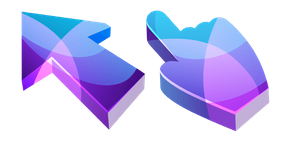 Purple and Blue Abstract 3D Cursor