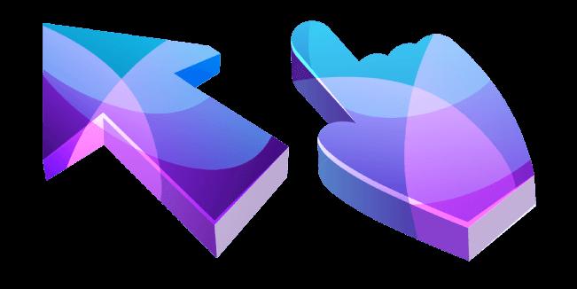 Фиолетовый и Синий Абстрактный 3D