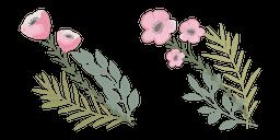Pink Anemone Flower Cursor