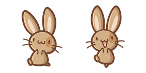Cute Brown Rabbit Curseur
