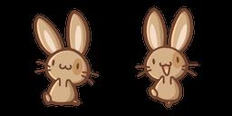 Cute Brown Rabbit Cursor