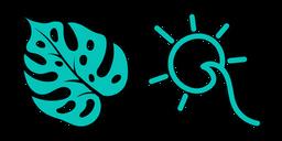 VSCO Girl Monstera and Wave Sun Curseur