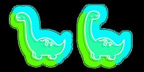 Курсор Неоновый Зеленый Динозавр