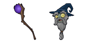 Plants vs. Zombies Wizard Zombie Cursor