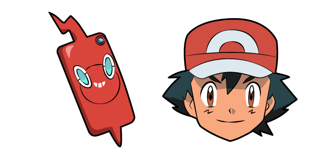 Pokemon Ash Ketchum Rotom Phone