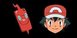 Pokemon Ash Ketchum Rotom Phone Cursor
