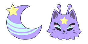 Purple Alien Cat Cursor