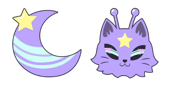 Purple Alien Cat