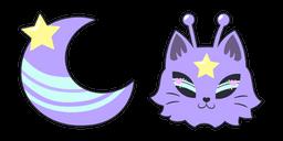 Purple Alien Cat Cursor