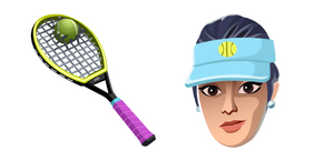 Fortnite Volley Girl Skin Used Racket Back Bling Curseur