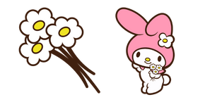 My Melody and Flowers Curseur