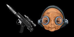 Star Wars Maz Kanata Blaster Pistol Curseur