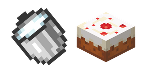 Minecraft Milk Bucket and Cake Cursor