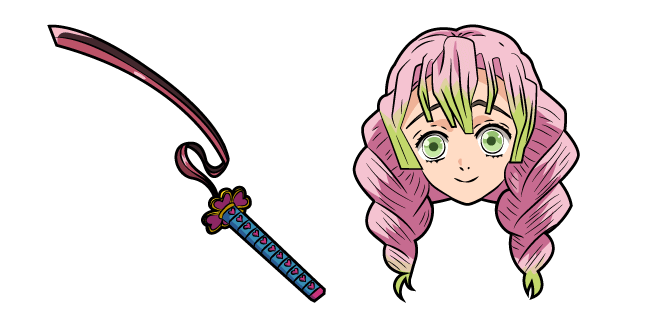 Demon Slayer Mitsuri Kanroji Cursor Custom Cursor Kimetsu no yaiba, as well as it's 2019 anime television series adaption.she is the love hashira of the demon slayer corps and a love interest of obanai iguro.unlike most of members of. demon slayer mitsuri kanroji cursor