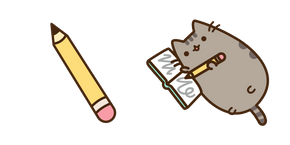 Pusheen and Pencil Cursor