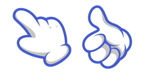 White Cartoon Hand Cursor