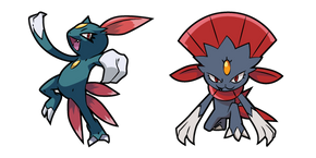 Pokemon Sneasel and Weavile Curseur