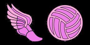 VSCO Girl Soccer Boot and Ball Curseur