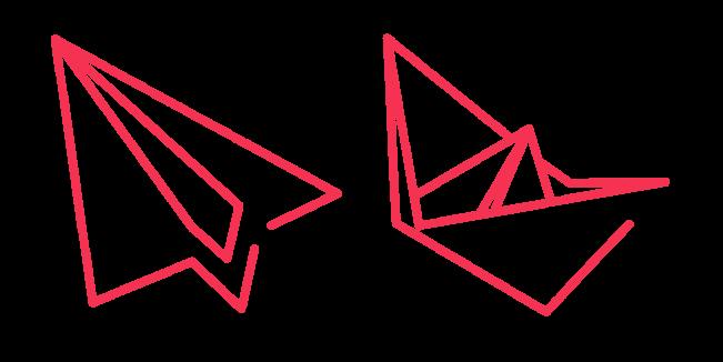 Красный Бумажный Самолет и Кораблик