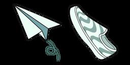 VSCO Girl Paper Plane and Sneaker Curseur
