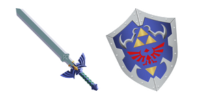 The Legend of Zelda Master Sword and Hylian Shield