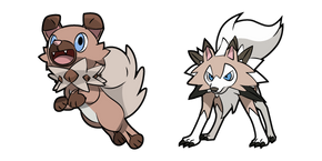 Pokemon Rockruff and Lycanroc