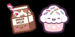 Cute Chocolate Milk and Cupcake Cursor