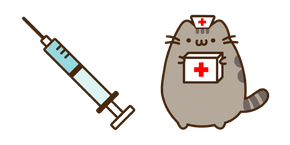 Doctor Pusheen and Syringe Cursor