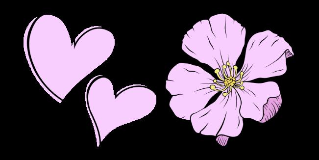 VSCO Girl Love Hearts and Sakura Flower