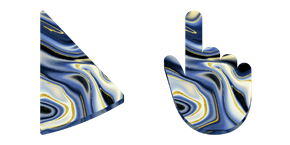Blue and Gold Marble Cursor