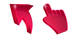 Ruby Red 3D Cursor