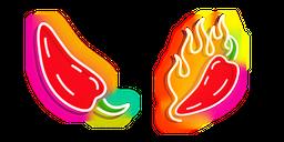 Red Hot Pepper Neon Cursor