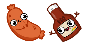 Cute Sausage and BBQ Sauce Cursor