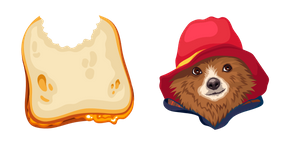 Paddington Bear and Sandwich Cursor