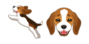 Cute Beagle Puppy Cursor