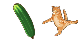 Scared Cat and Cucumber Cursor