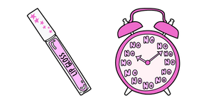 VSCO Girl Lip Gloss and Alarm Clock Curseur