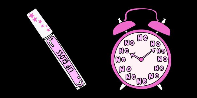 VSCO Girl Lip Gloss and Alarm Clock