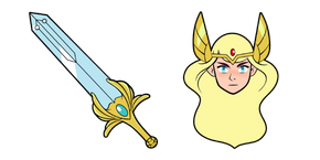 She-Ra and a Sword of Protection Cursor