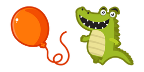 Cute Crocodile with a Balloon Cursor