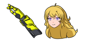 RWBY Yang Xiao Long and Dual Ranged Shot Gauntlets Cursor