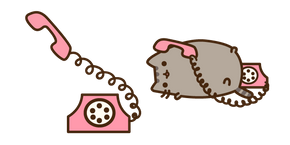 Pusheen on the Phone Cursor