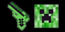 Minecraft Gun & Creeper Cursor