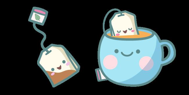 Милые Чайный Пакетик и Чашка Чая