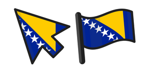 Bosnia and Herzegovina Flag Curseur