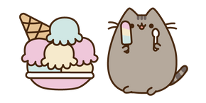 Pusheen and Lots of Ice Cream Cursor