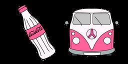 VSCO Girl Coke Bottle and Van