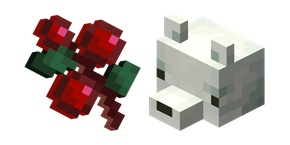 Minecraft Sweet Berries and Snow Fox Cursor