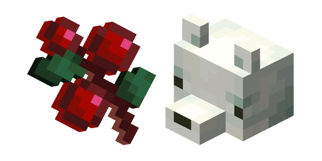 Minecraft Sweet Berries and Snow Fox