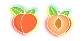 Orange Peach Neon Cursor